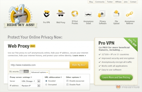 test hidemyass vpn