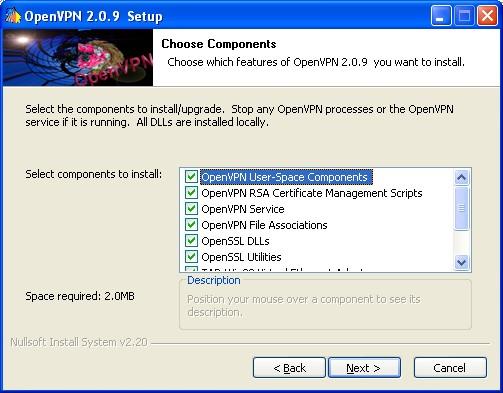 Configuration protocole vpn